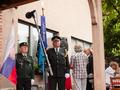Udeležence prireditve sta pozdravila dva prapora, prapor Zveze slovenskih časnikov in prapor Zveze vojnih veteranov za Slovenijo.