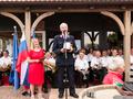 V imenu prejemnikov priznanj je spregovoril Stanislav Šimenc, prejemmnik zlatega priznanja občine Mengeš.