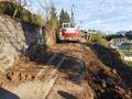 1. fazo rekonstrukcije ceste Zgornje Dobeno Rašica z oznaka JP 753021, na odseku med stacionažo km 4,24 do km 4,78 je zahteven projekt.